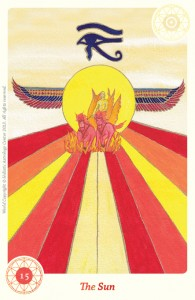 The Sun astrological card